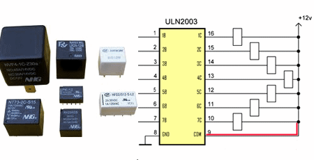 ULN2003A relay